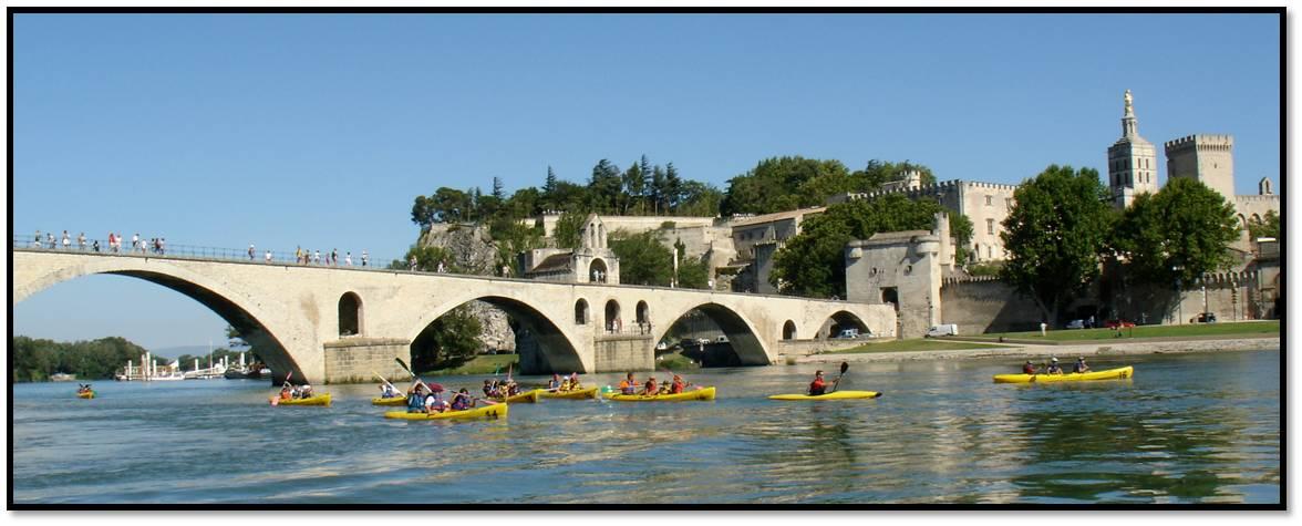 ad Avignone sul fiume Rodano