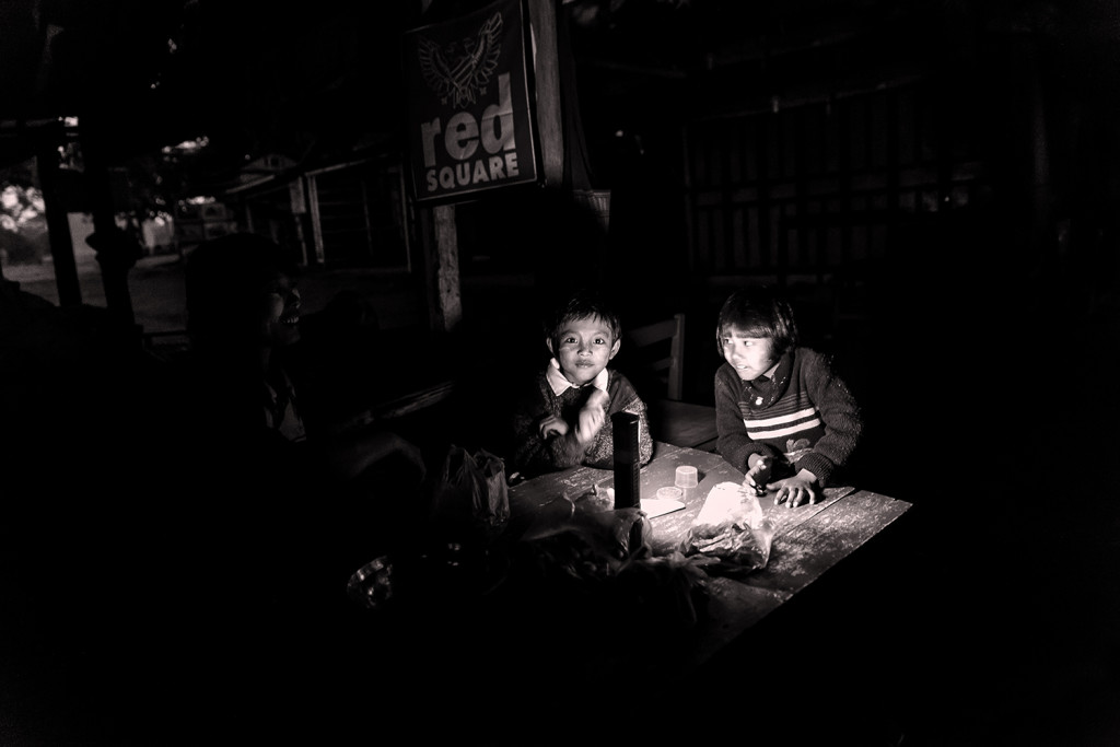 niente elettricità, Minguin, Birmania