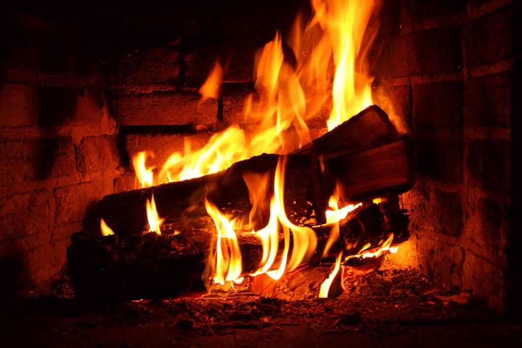 Painting Wood Burning Fireplace