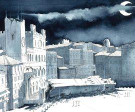 Andrea Friscelli, La notte che crollò la Torre