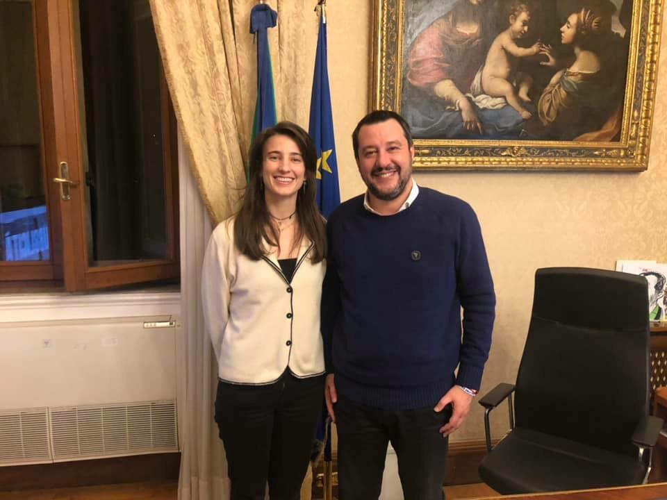 """Matteo Salvini """"ringrazia"""" Clio Biondi Santi Per La Nuova"""