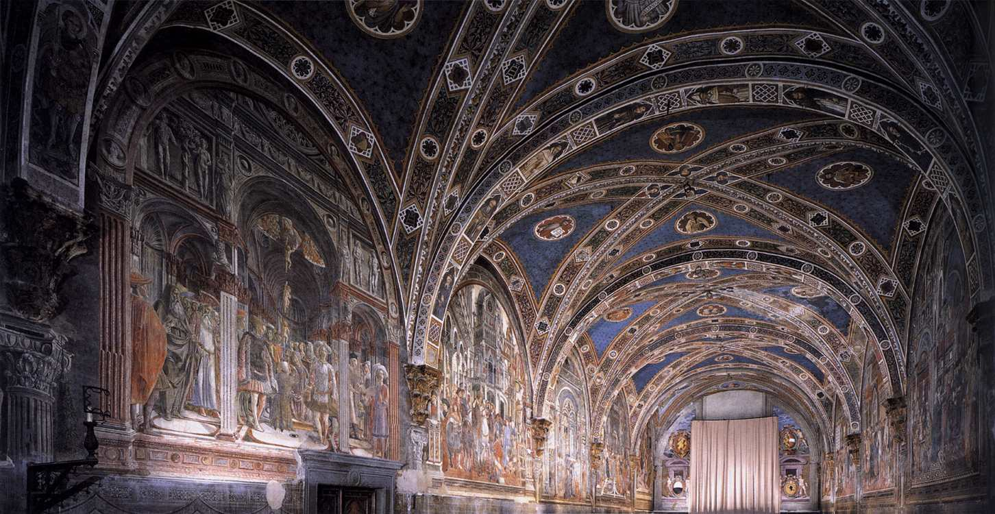 Domenico_di_Bartolo_-_View_of_the_fresco_cyle_in_the_Pellegrinaio_-_WGA06415