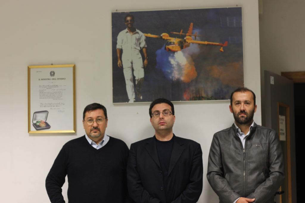 Bruno Orlandi, Ezio Sabatini e Leonardo Bulleri