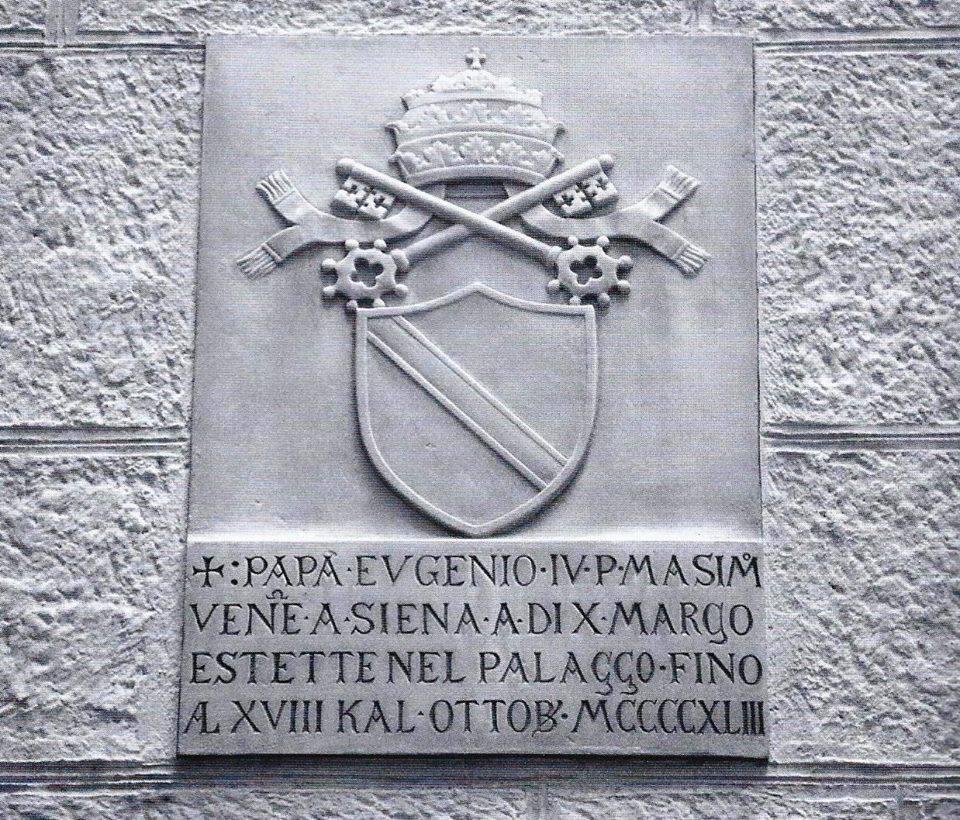 Il 10 marzo 1443 Papa Eugenio IV fa il suo ingresso solenne in Siena