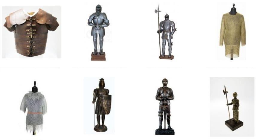 Armatura medievale e accessori